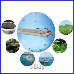 24V 3m³/h Solar Water Pump 50/60/80/120M Deep Well Solar Screw Submersible Pump