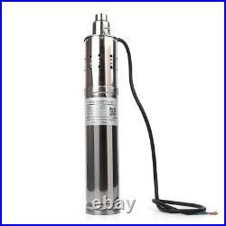 24V 40/80/120M Solar Powered Water Pump Deep Well Submersible Pump Steel Machine