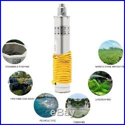 24V 420W 5m³/H Solar Submersible Water Pump Brushless Stainless Steel 20M Head