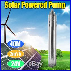 24V 5M Brushless Solar Powered Water Pump Farm&Ranch Submersible Hole Deep Well