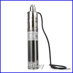 24V 864W 3m³/H Solar Submersible Water Pump Deep Well Borehole Pumps UK New