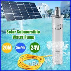 24V DC 120M Solar Water Pump Deep Well Solar Submersible Pump Steel Machine 864w