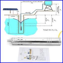 24V DC 2m3/H Solar Powered Water Pump Farm&Ranch Submersible Bore Hole Deep Well