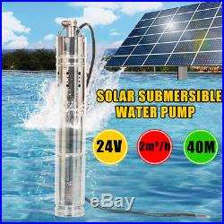 24V DC 2m3/h 284W Stainless Steel Brushless Solar Powered Water Pump Submersible