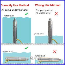 24V DC 420W Solar Submersible Water Pump Stainless Steel 5m3/Hour 20M Head