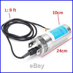 24V DC Solar Power Stainless Shell Submersible 3.2GPM 4 Deep Well Water Pump