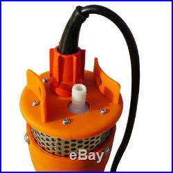 24V DC Solar Powered Deep Submersible Water Well Pump Farm Ranch Household 230ft