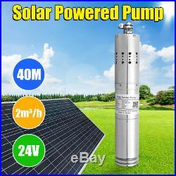 24V Solar Water Pump 40m Deep Well Solar Submersible Pump Steel Machine 2m³/h