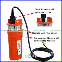 24V Volt Submersible Deep Well Water Pump Solar Battery for Pond Watering Home