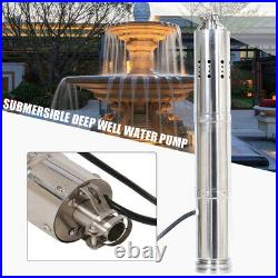 24V solar water pump submersible pump deep well pump 2m³/h stainless steel 40m