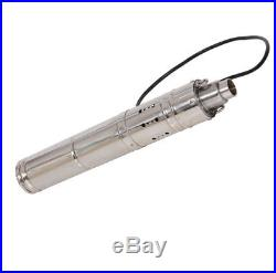 24VDC 3000LPH 80m Head Solar Powered Submersible Bore Hole Deep Well Water Pump