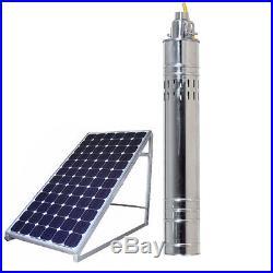 24v DC Solar Water Pump 120M Deep Well Solar Submersible Pump Steel Machine NEW
