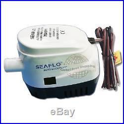 24v Seaflo Automatic Submersible Boat Bilge Water Pump 750gph