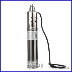 24v Solar Water Pump 40/80/120M Deep Well Solar Submersible Pump Steel UK