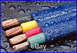 250-Foot Double-Insulated Submersible Pump Cable for Water Wells 12-Gauge 3-Wire