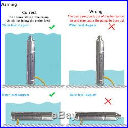 284W 24V Brushless Stainless Steel Screw Solar Pump Submersible Water Deep Well