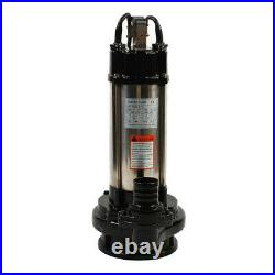2HP Stainless Steel Submersible Sump Pump Dirty Clean Water 1500W 36000 L/H