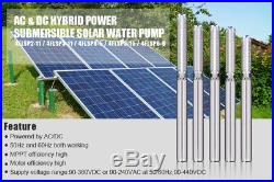 2hp Ac/dc Solar Submersible DC Water Deep Well Pump