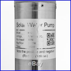 2m³/H 110W Solar Powered Water Pump Farm&Ranch Submersible Bore Hole Deep Well