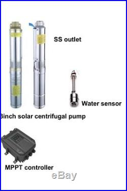 3 4 DC Submersible Well Solar Water Pump Stainless Impeller MPPT Controller