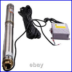 3 inch 3800L/H Submersible Bore Hole Deep Well Pump + 30m Cable Garden Home Pump