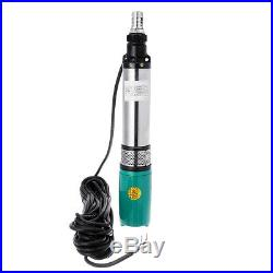 320W DC 24V 5m/h 60m Solar Water Pump Submersible Bore Hole Deep Well Pump