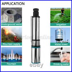 350W 24V Submersible Water Pump Solar Deep Well Pump High Lift Flow Farm