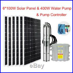 3Solar Submersible Screw Irrigation Water Well Pump+200/600W Solar Panel moduel