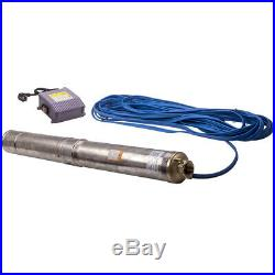 4 1.5HP 1.1KW Borehole Deep Well Water Submersible Pump 50Hz 220-240V 20M Cable