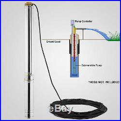4 1.5kw Borehole Deep Well Submersible Water PUMP House/Garden+cable40m