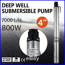 4 (102mm) Submersible Bore 1.1HP Deep Well Water Pump Watering 240V 161FT/49M