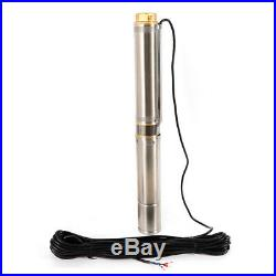 4 1100W 9000L/H Submersible Deep Well Borehole Water Pump 1.5'' Water Outlet