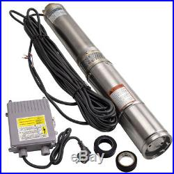 4 370W Borehole Deep Well Submersible Water Pump + 20 m power cable