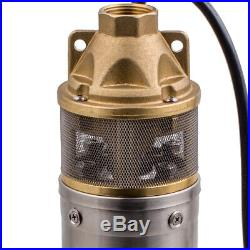 4 750W Bore Hole Stainless Steel Deep Well Submersible Water Pump 2600 l / h
