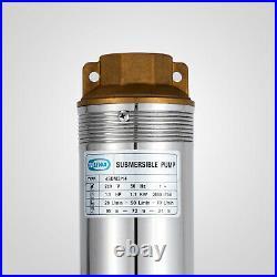 4 Borehole Pump Deep Well Water Submersible Electric Garden Pump