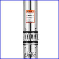 4 SUBMERSIBLE DEEP WELL WATER PUMP 117l/min 49m, 230V, 0.8kW LONG LIFE