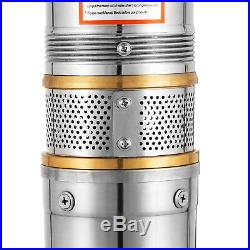 4 Stainless Steel Deep Well Submersible Water Pump Electric 550W 73m +cable10m
