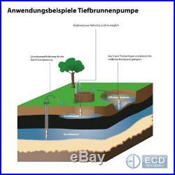 4 borehole pump deep well pump submersible water pump garden pump electric 750W