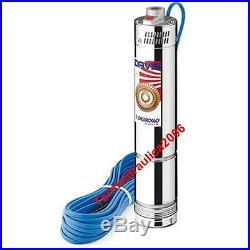 4 submersible Borehole Electric Water Pump DAVIS 20MT 1Hp 240V Pedrollo