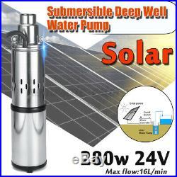 40M 280W 24V Stainless Steel Solar Submersible Water Deep Well Pump Power Saving