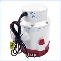 4700GPH High Flow 12V Portable Electric Marine Water Submersible Bilge Pump