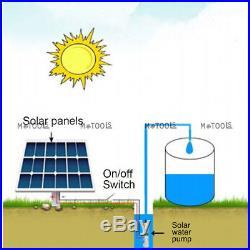 48V 750W Submersible Solar Pump 3 Solar Water Bore Pump 256ft 3000L Irrigation