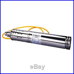 500W 24V 50M 3m³/H DC Brushless Solar Powered Water Pump Submersible Deep Well I