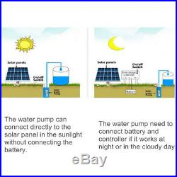 500W 24V 50M 3m3/H DC Brushless Solar Powered Water Pump Submersible Deep