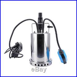 550W Electric Stainless Steel Farm Sump Pump Clean/ Dirty Water Submersible Pump