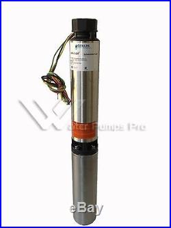5SB05412CL Goulds 5GPM 1/2HP 4 Submersible Water Well Pump & Motor 3 Wire 230V