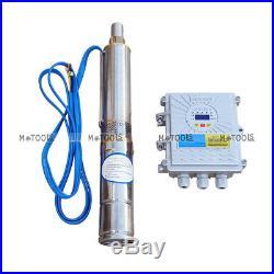 750W 48V 3 Solar Submersible Pump 6000RPM Deep Well Water Pump Irrigartion New