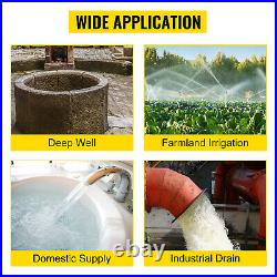 750w Borehole Deep Well Submersible Water Pump Borehole 1 HP House/Garden