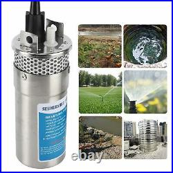 96W Solar Submersible Water Pump 8. 0Lpm/2.1Gpm Flow 230ft Lift for RV Yachts