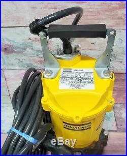 ATLAS COPCO WEDA 08S-115 Submersible Contractor Water Pump 6N90 1.6HP 10.3A 115V